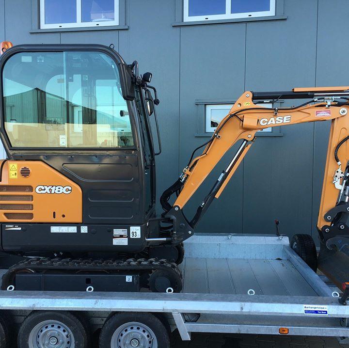 Nieuwe CASE CX18C kraan afgeleverd